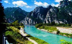 Download wallpapers Lake Garda, summer, mountains, Italy, Europe