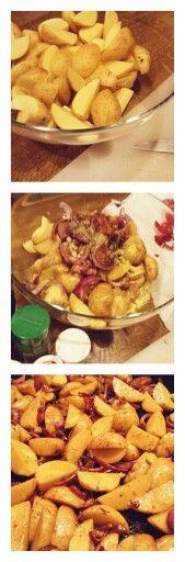 #ofenkartoffeln #kartoffeln #rotezwiebeln #knobi #kräuter #öl #balsamico #gutmischen #abindenofen #180grad #50minbacken #lecker #leicht #männerhabenhunger  #selfmade #foodporn #antitütenkochen