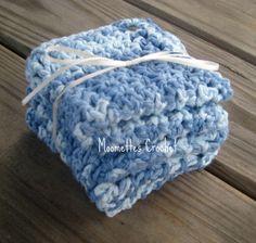Spa Wash Cloths Bath Cloths Cotton Washcloths by MoomettesCrochet, $6.75