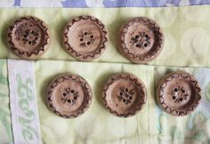 Love walnut hand made set of 6 buttons from by Walnuttreebuttons