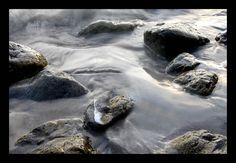 Langzeitbelichtung Felsen