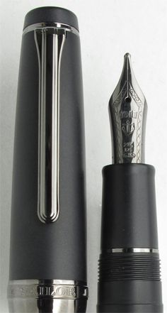 Sailor Professional Gear  Imperial Black Fountain Pen - I just fell in love with a $500+ pen. Oops.