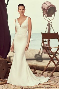 TPSB || Sleeveless Crêpe Wedding Dress - Style #2184 | Mikaella Bridal Spring 2018