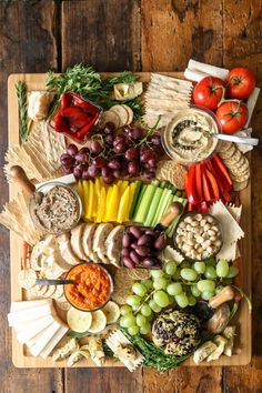 Vegan DIY Charcuterie Board // If you are struggling to come up with creative and filling dinners, we suggest you try creating cheese platters a few times week. You will be surprised how filling and satisfying they are. Charcuterie Platter, Charcuterie And Cheese Board, Cheese Boards, Charcuterie Ideas, Tapas Platter, Charcuterie Spread, Platter Ideas, Party Food Platters, Cheese Platters