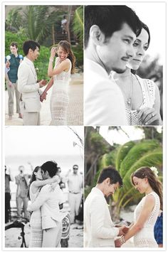 This couple really captured the true spirit of a Tulum wedding; natural and simple