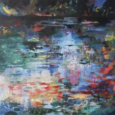 "Saatchi Art Artist Lies Goemans; Painting, ""What Lies Beneath 8"" #art"