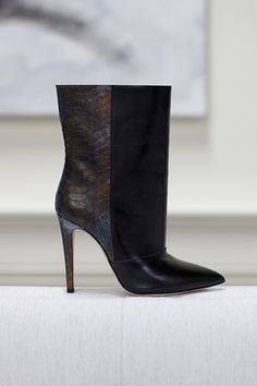 Emerson Fry Midi Boot in Leather and Python. Also comes in black calf hair, but think I'd prefer that in the loafer.