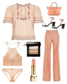 """just peachy"" by im-karla-with-a-k on Polyvore featuring Rebecca Taylor, Emilio Pucci, STELLA McCARTNEY, Bobbi Brown Cosmetics, Yves Saint Laurent, Chloé and Alexander Wang"