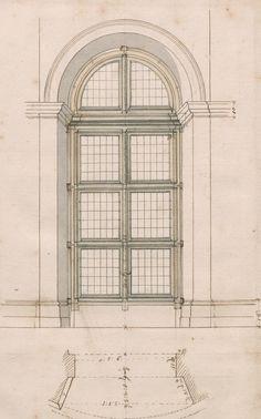 Disegno di finestra, 1725 – 1730