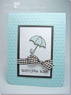 Cute simple baby card