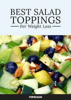 Pin for Later: Pin Away: 60 Healthy Recipes With Fresh Summer Fruit Pineapple Blueberry Salad With Lemon Chia Seed Dressing Get the recipe: flat-belly salad Lunch Recipes, Salad Recipes, Cooking Recipes, Summer Recipes, Dinner Recipes, Healthy Salads, Healthy Eating, Healthy Recipes, Healthy Lunches