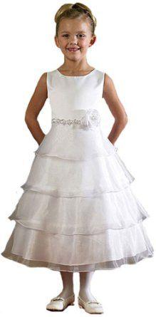 Amazon.com: Girls KID Collection New Organza Tiered Flower Girl Dress: Clothing  $44.99 Amazon.com