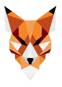 Geometric design of a fox Geometric design of a fox Gallery quality print on th… - Kunstunterricht Fox Drawing, Wall Drawing, Art Drawings, Geometric Deer, Geometric Drawing, Fuchs Illustration, Fuchs Tattoo, Polygon Art, Fox Art