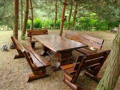 Gartenmöbel Sitzgarnitur Naturholz Sommer Traum für 12 Personen Outdoor Home Porch, Weathered Wood, Picnic Table, Outdoor, Yard Ideas, Porches, Decks, Furniture, Woods