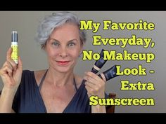 My Natural, Everyday, No Makeup Look with Extra Sunscreen - YouTube