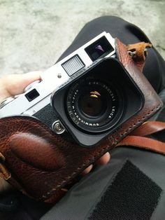 Leica MP, 35/2 Summicron    I need that lens and half case...