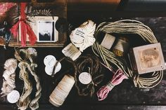 The Alchemy of Assemblage, with ribbons from Tinctifloria and strings from String Harvest
