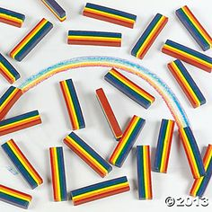 25 Rainbow Design Crayons - Oriental Trading:  possible favor over box of crayons.