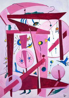 'Pink Dream' by Leo. Medium: Acrylic. Fine Art Supplier - Drai Fine Art.