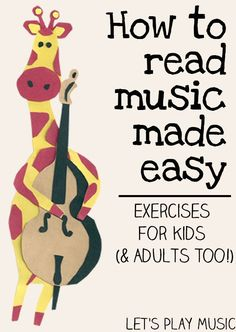 How to Read Music Made Easy - Exercises for Kids (& adults too!) // Cómo leer música. Ejercicios para niños y adultos.
