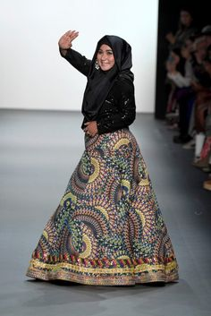 I haven't seen anything about this on my dash, so I just want to draw attention to Anniesa Hasibuan, a Muslim designer who presented a glittering line of hijab-wearing models at this year's New York...