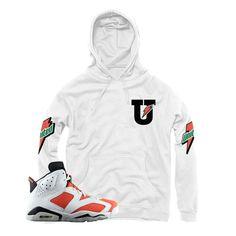 """Jordan 6 Gatorade """"MJ Sweat"""" White Hoodie"""
