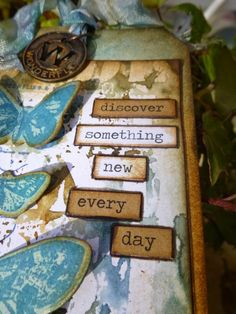Words and Pictures: Butterflies for me! Tim Holtz, Stamping, Butterflies, Paper Crafts, Watercolor, Type, Words, Day, Butterfly