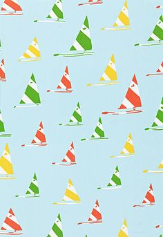 Quick!  sew something in this:  Sailboat Schumacher Fabric