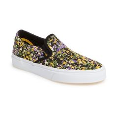 Women's Vans Classic Dx Slip-On Sneaker ($80) ❤ liked on Polyvore featuring shoes, sneakers, patterned shoes, vans trainers, slip on sneakers, slip-on shoes and vans shoes