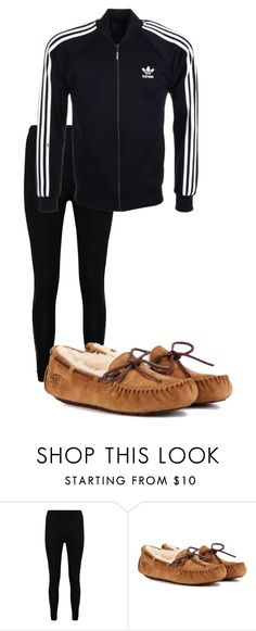 """""""January 24"""" by megaspirit on Polyvore featuring Boohoo, UGG and adidas Originals"""