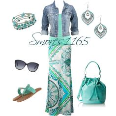 """""""Denim and Maxi Style"""" by smores1165 on Polyvore"""