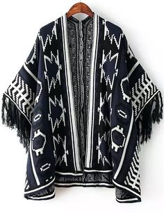 Shop Navy Batwing Sleeve Geometric Pattern Tassel Cardigan online. Sheinside offers Navy Batwing Sleeve Geometric Pattern Tassel Cardigan & more to fit your fashionable needs. Free Shipping Worldwide!