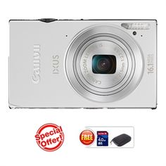 CANON IXUS 240 HS(Silver) (16.1 MP HS CMOS, 5X Optical Zoom, 8.1cms LCD Screen Full HD. ) https://www.magickart.com/