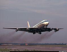 United DC-8 departing from New York's JFK International Airport.
