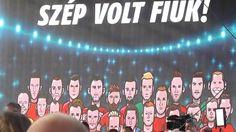 """A magyar futball válogatott fogadása a Hősök Terén 2016.06.27. """" Az éjje... Soho"""