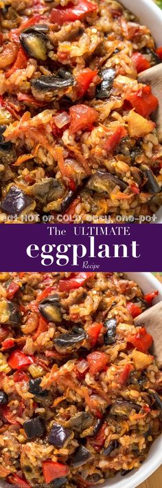 This is the ultimate eggplant recipe to have! Made from basic ingredients and cooked in one-pot, this easy eggplant recipe can be served SO many ways! It goes as a meal alone, side, spread, salad--you name it! Delicious HOT or COLD! Vegetable Recipes, Vegetarian Recipes, Cooking Recipes, Healthy Recipes, Curry Recipes, Eggplant Dishes, Eggplant Parmesan, Healthy Eggplant Recipes, Mediterranean Diet Recipes