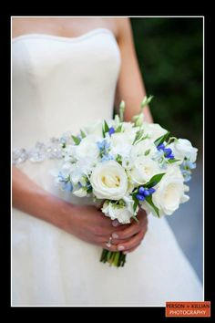 Boston Wedding Photography, Boston Event Photography, Bridal Bouquet, Spring Wedding Bouquet, White and Blue Bouquet, White Rose Bouquet, Tangerine Creations Boston, Boston Wedding Florist