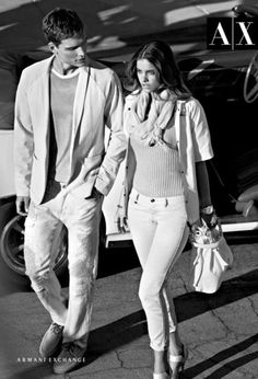 Armani Exchange Spring 2012 Ad Campaign  Barbara Palvin, Alex Cunha, photographed by Matthew Scrivens