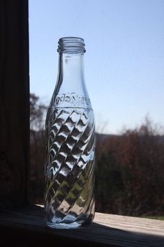 Vintage Embossed Soda Stream Soda Bottle Made in UK