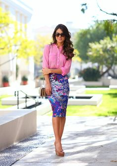 Look do dia: Pink & Blue