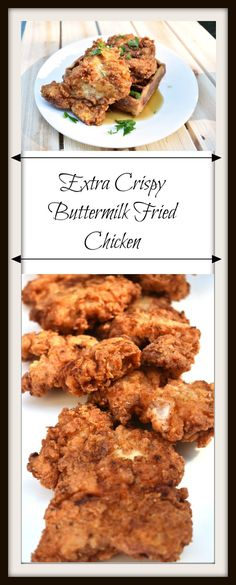 Extra Crispy Buttermilk Fried Chicken is the king of all comfort foods. Eating this chicken is like a culinary hug from your grandmother. Buttermilk Fried Chicken, Fried Chicken Recipes, Crispy Chicken, My Recipes, Cooking Recipes, My Favorite Food, Favorite Recipes, Good Food, Recipes