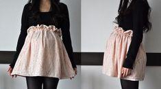 Paper Bag maternity Skirt Tutorial 1