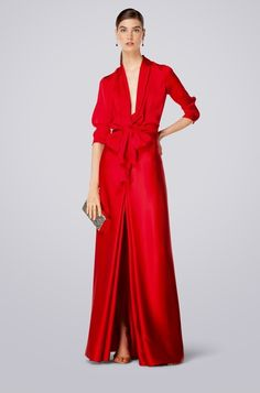 CH Collection Spring Summer 2014 Women - not red but dress blouse or  collared shirt with gown combo 0e41c58784e
