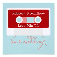 Retro Mixtape Wedding