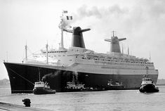 Paquebot FRANCE - novembre 1971, New-York - Le Havre : Southampton & arrivée au Havre