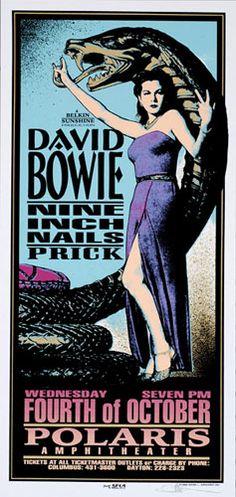 David Bowie + Nine Inch Nails @ Polaris Amphitheater - 10/4/1995 - Artist: Mark Arminski - I forgot about Prick being on that tour.
