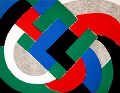 Composition with green and blue - Sonia Delaunay - WikiArt.