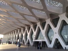 The Main Terminal Of Marrakech Airport. Designed By E2A Architects From  Switzerland Islamic Geometric Design