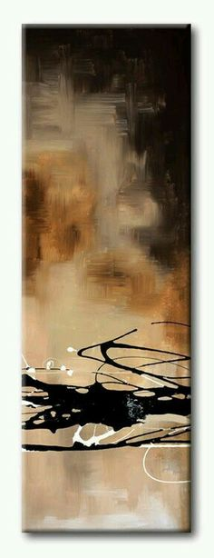 Tangletown Fine Art Tobacco & Chocolate I by Laurie Maitland Poster Frame - 39 x 13 x in. Art Prints, Abstract Art Painting, Art Painting, Painting Edges, Abstract Painting, Art, Abstract, Posters Art Prints, Stretched Canvas Prints