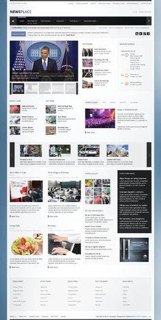Newsplace, Joomla Responsive Retina Ready Portal Template